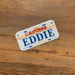 "5/$20 ""EDDIE"" California License Plate for Bicycle"
